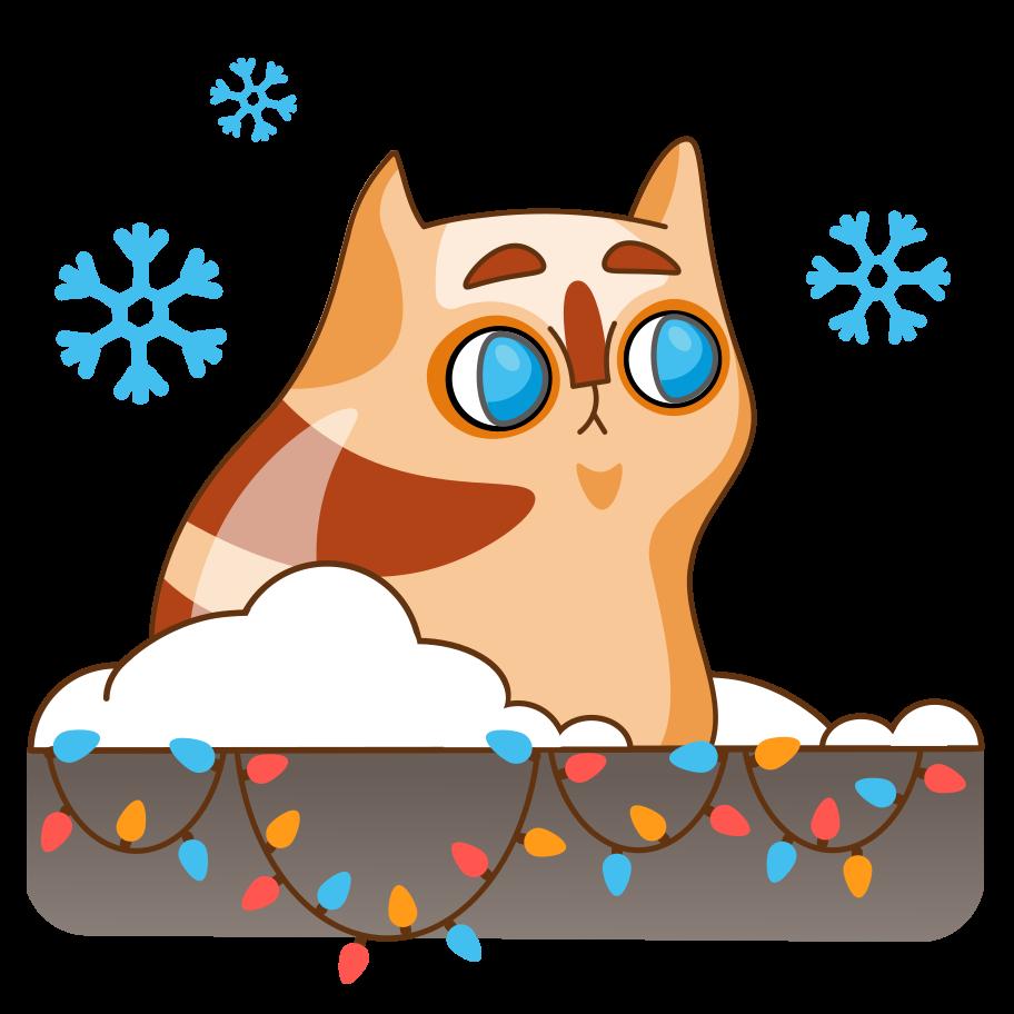 Let it snow Clipart illustration in PNG, SVG