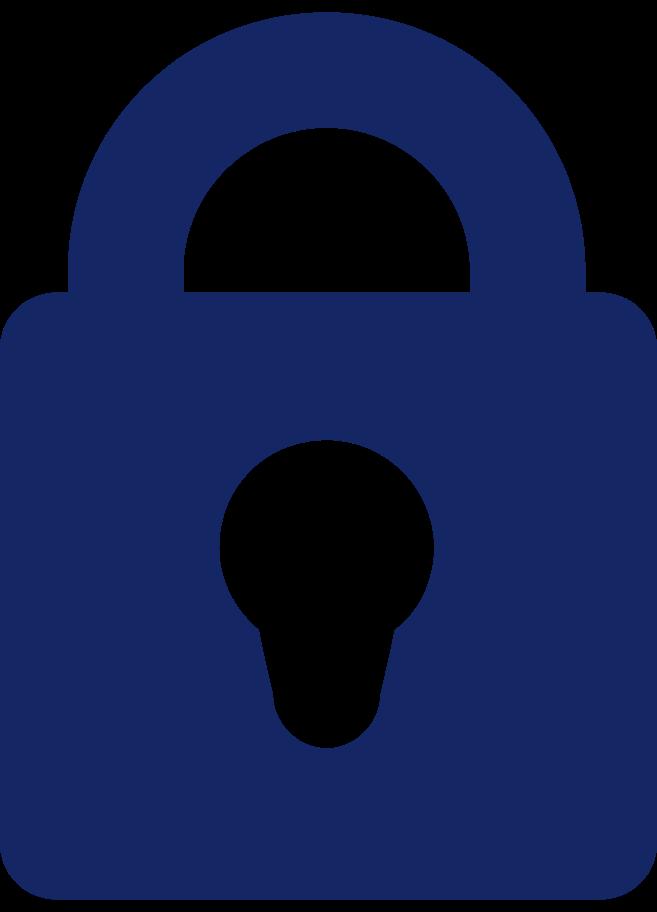Ilustración de clipart de icono de candado en PNG, SVG