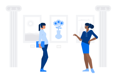 style At the museum images in PNG and SVG | Icons8 Illustrations