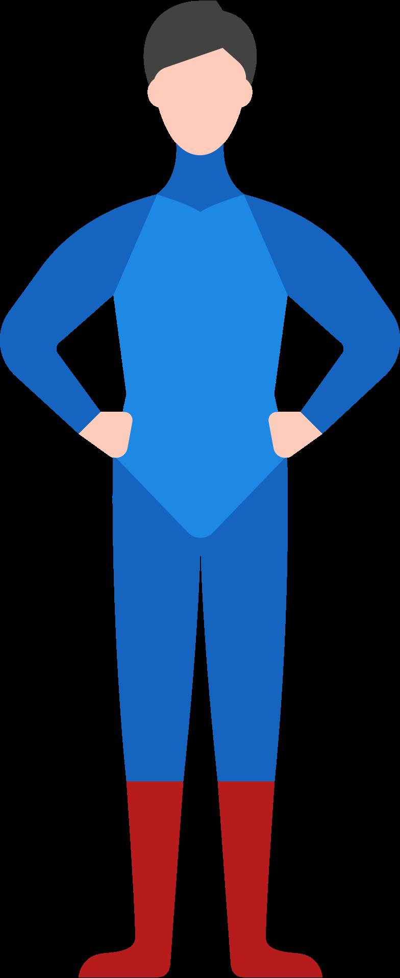 man superhero Clipart illustration in PNG, SVG
