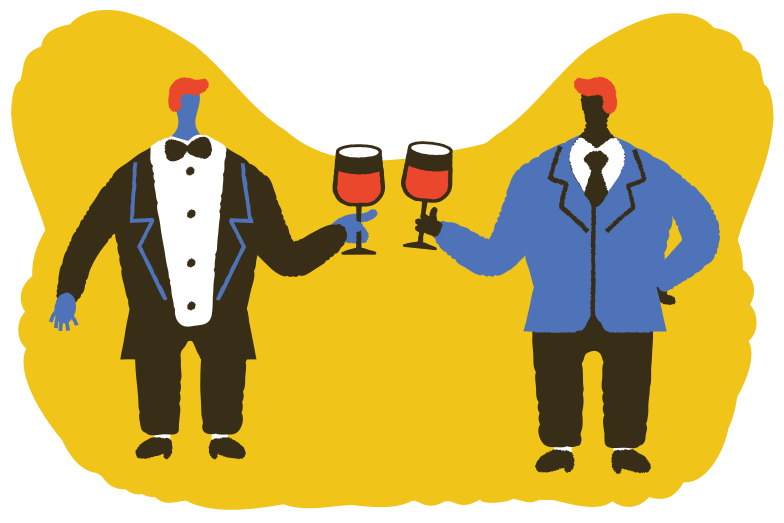style Let's drink some wine Vector images in PNG and SVG | Icons8 Illustrations