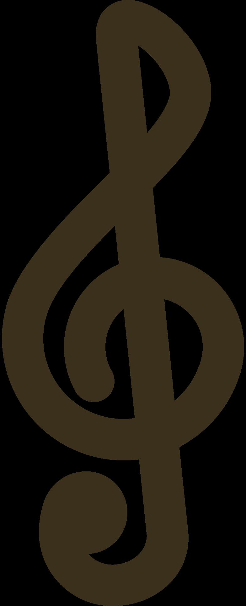 Ilustración de clipart de Nota musical clave en PNG, SVG