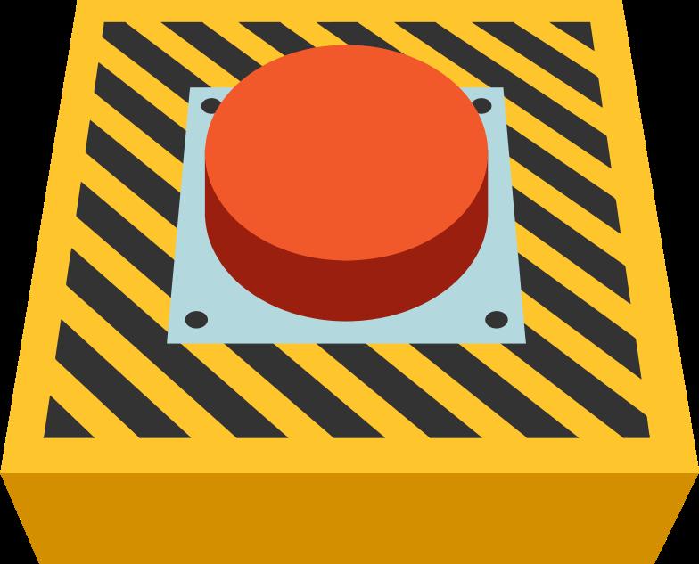 Illustration clipart emergency button aux formats PNG, SVG