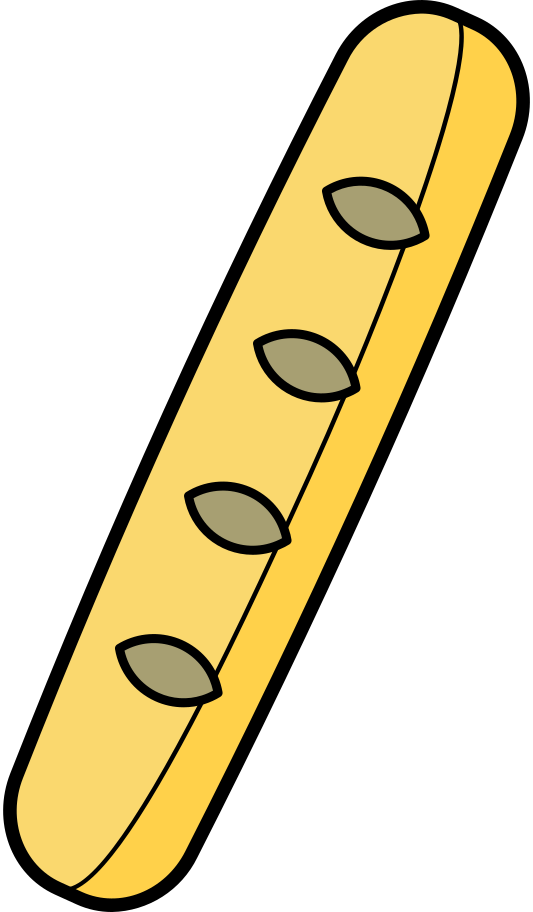 baguette Clipart illustration in PNG, SVG