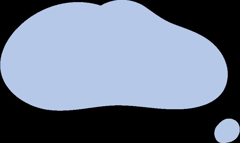 Ilustración de clipart de dialog cloud en PNG, SVG