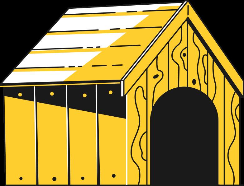 doghouse Clipart illustration in PNG, SVG