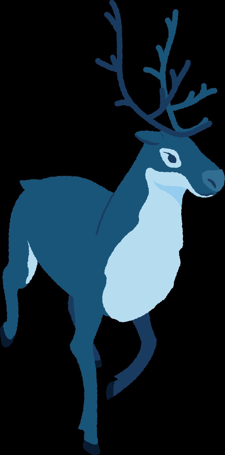 Ilustración de clipart de renos corriendo en PNG, SVG