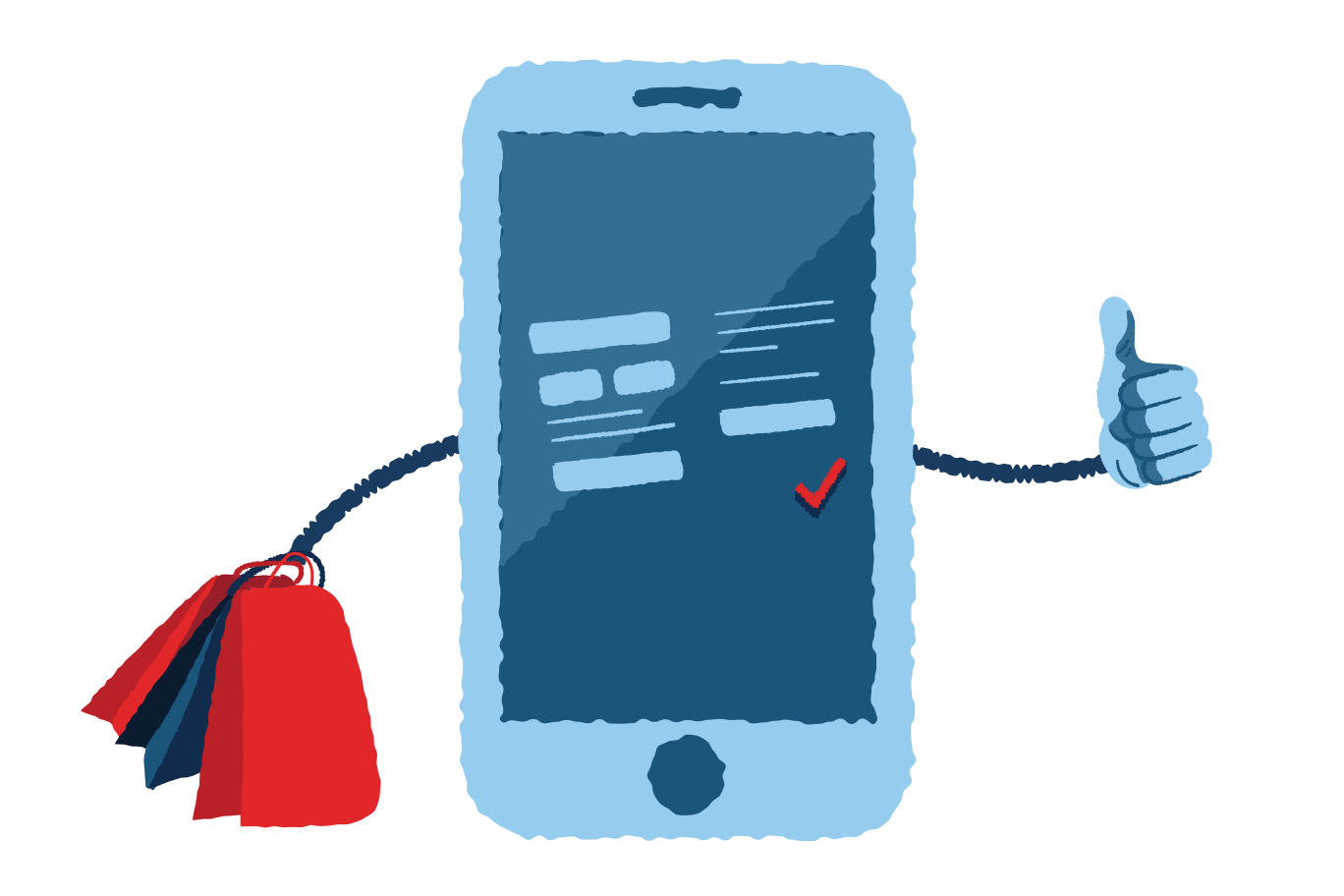 Your mobile store Clipart illustration in PNG, SVG