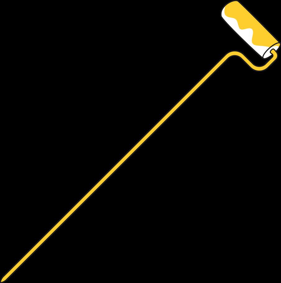 Ilustración de clipart de Rodillo de pintura de taxi en PNG, SVG