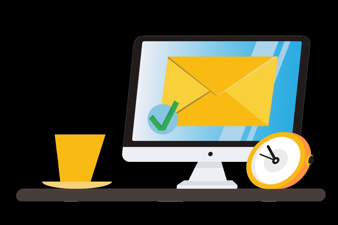 Message delivered Clipart illustration in PNG, SVG