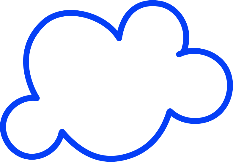 middle cloud Clipart illustration in PNG, SVG