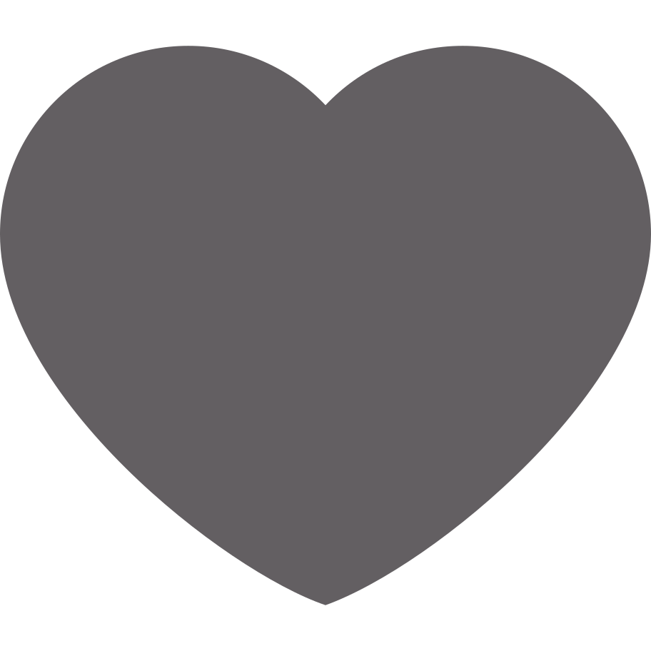 heart grey Clipart illustration in PNG, SVG
