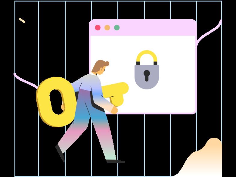 Secure browser Clipart illustration in PNG, SVG