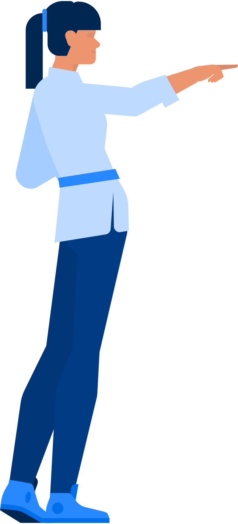 woman showing Clipart illustration in PNG, SVG