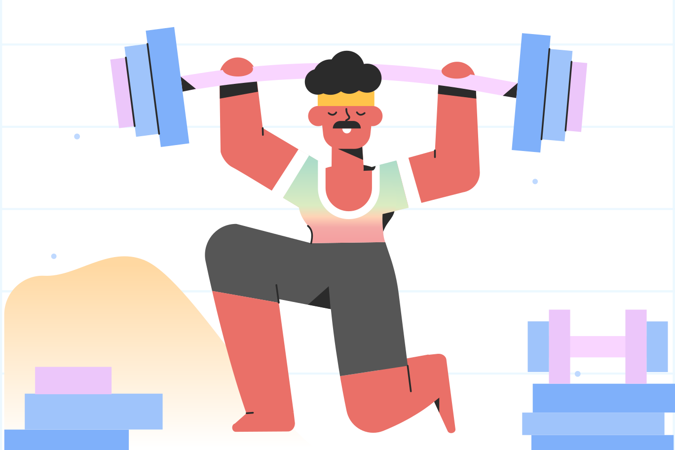 style Getting stronger in the gym Vector images in PNG and SVG | Icons8 Illustrations
