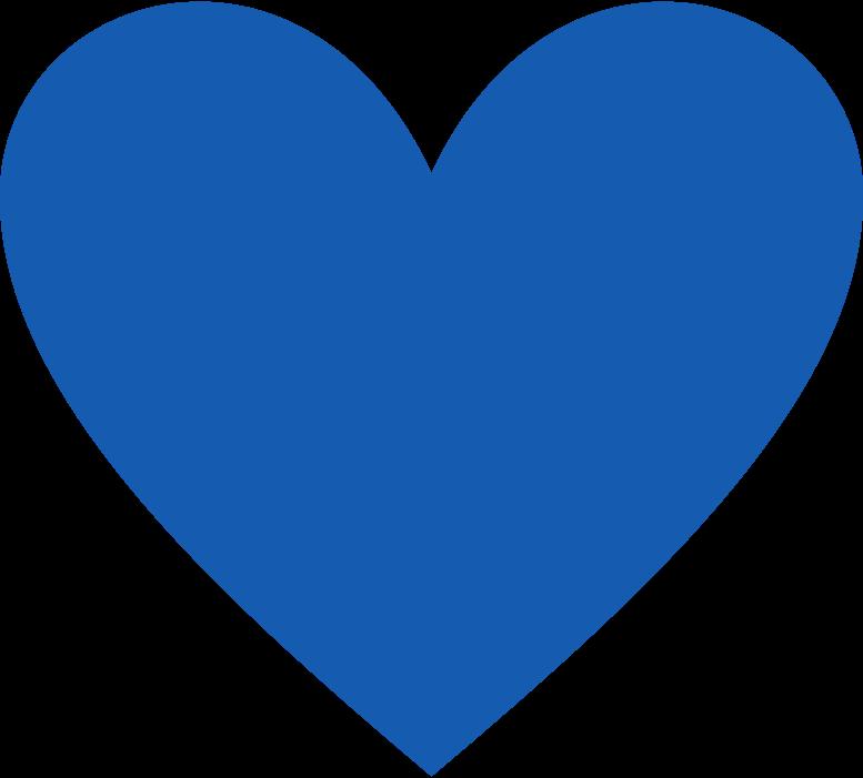 heart-blue Clipart illustration in PNG, SVG