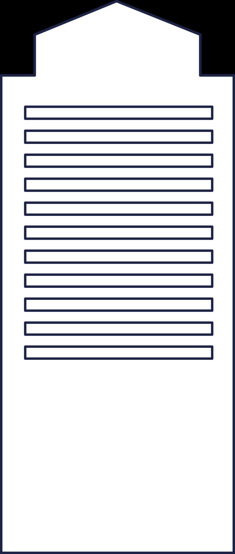 building 7 line Clipart illustration in PNG, SVG
