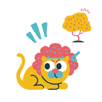 style Alerted lion images in PNG and SVG | Icons8 Illustrations