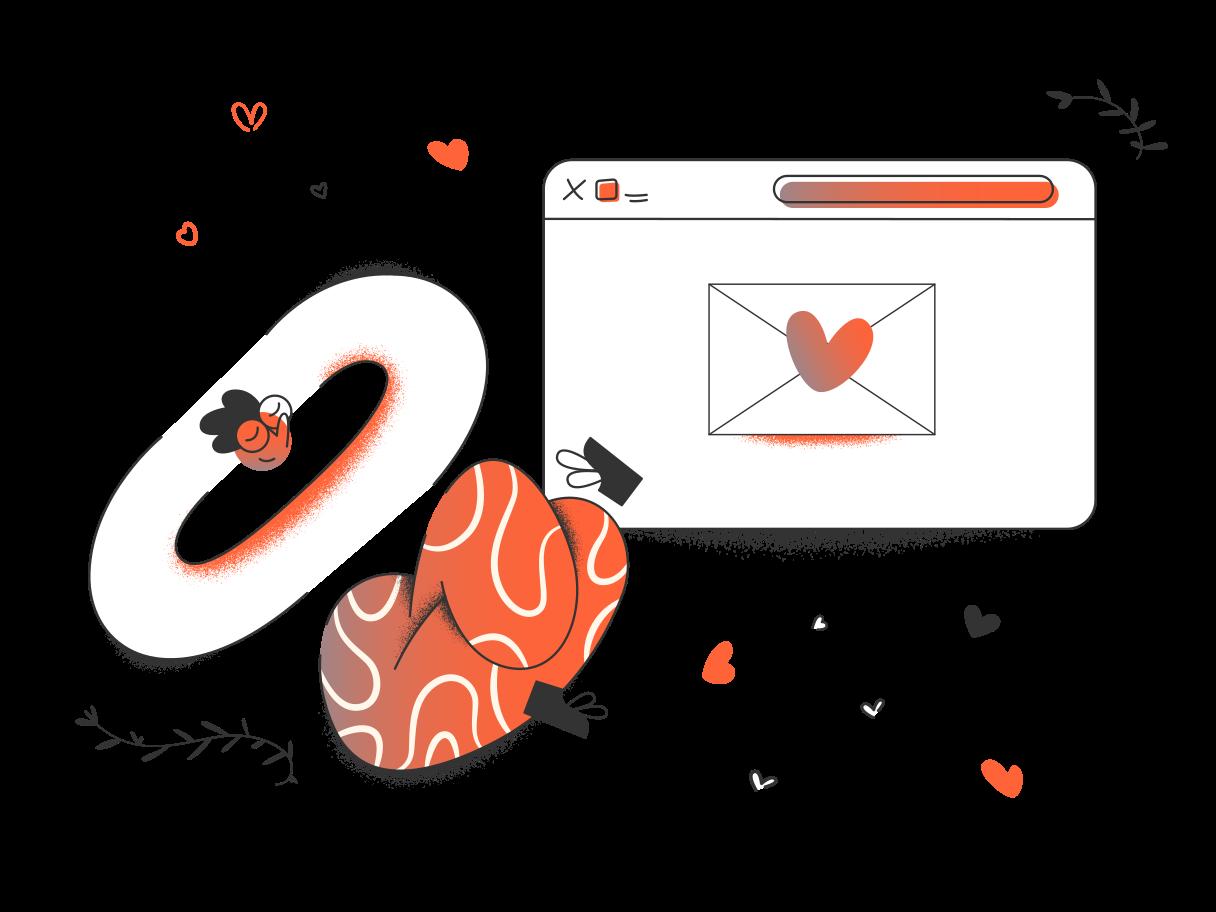 Love message  Clipart illustration in PNG, SVG