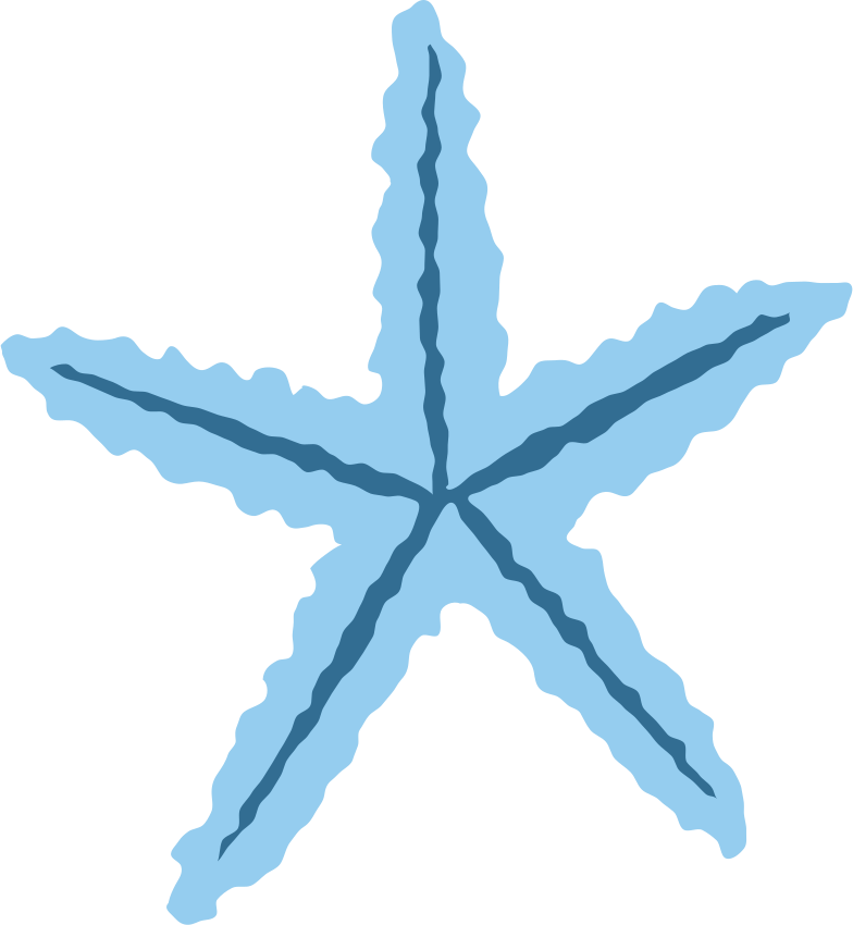 style blue sea star bottom Vector images in PNG and SVG | Icons8 Illustrations