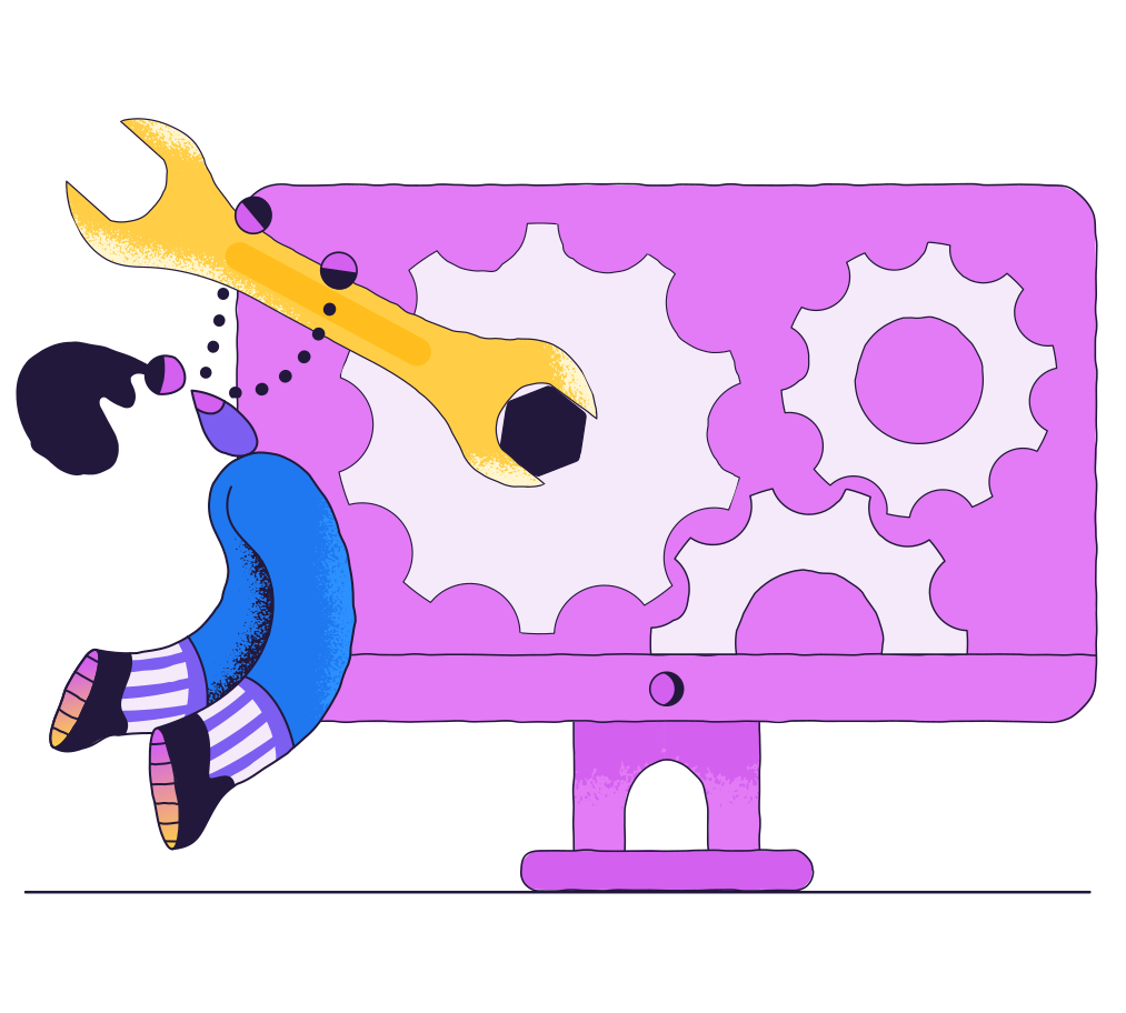 Computer service Clipart illustration in PNG, SVG