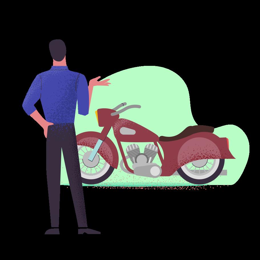genieße das motorrad Clipart-Grafik als PNG, SVG