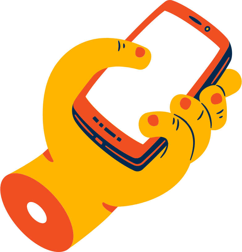 hand with smartphone Clipart illustration in PNG, SVG