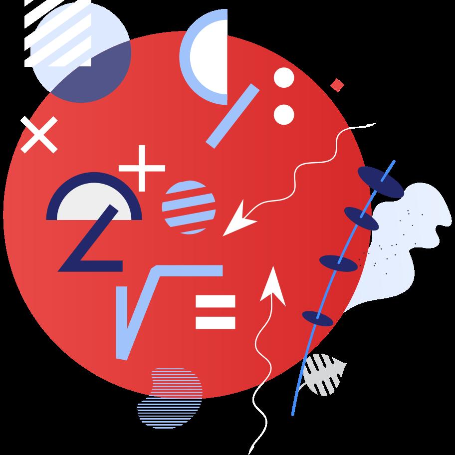 Ilustración de clipart de Matemáticas en PNG, SVG