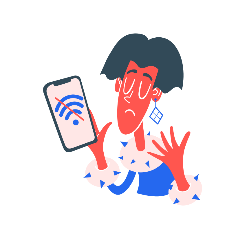 No wifi  Clipart illustration in PNG, SVG
