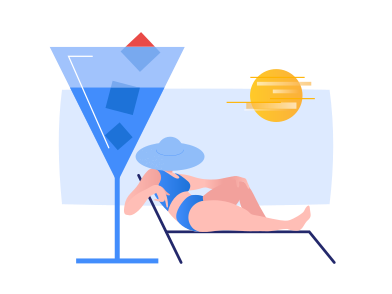 style Summer chilling images in PNG and SVG | Icons8 Illustrations