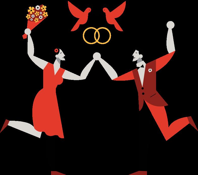 wedding Clipart illustration in PNG, SVG