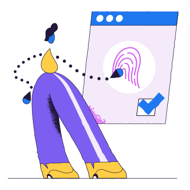 style Fingerprint verification images in PNG and SVG | Icons8 Illustrations
