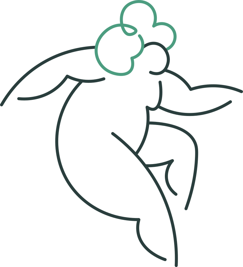 grandmother jumping Clipart illustration in PNG, SVG