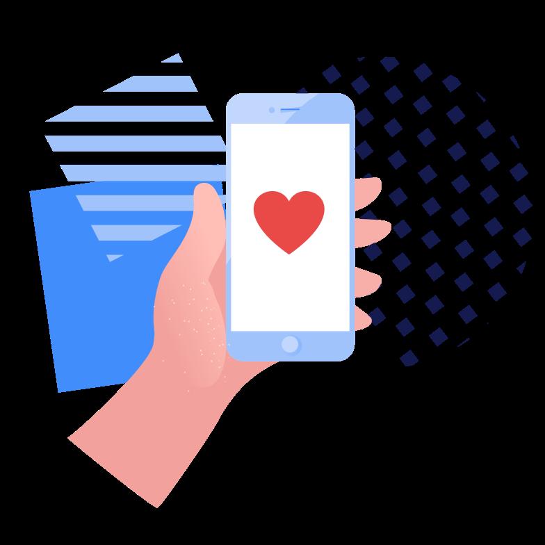 Sending love Clipart illustration in PNG, SVG
