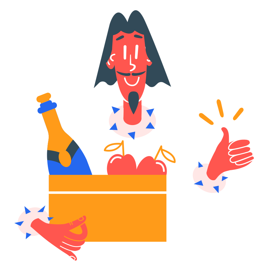 Grocery delivery Clipart illustration in PNG, SVG