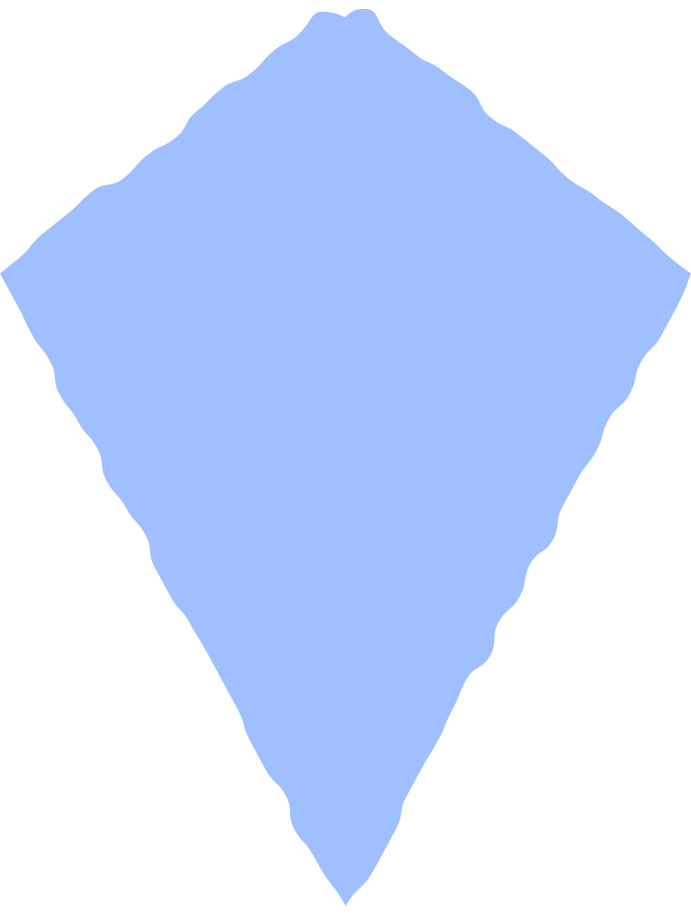 kite light blue Clipart illustration in PNG, SVG
