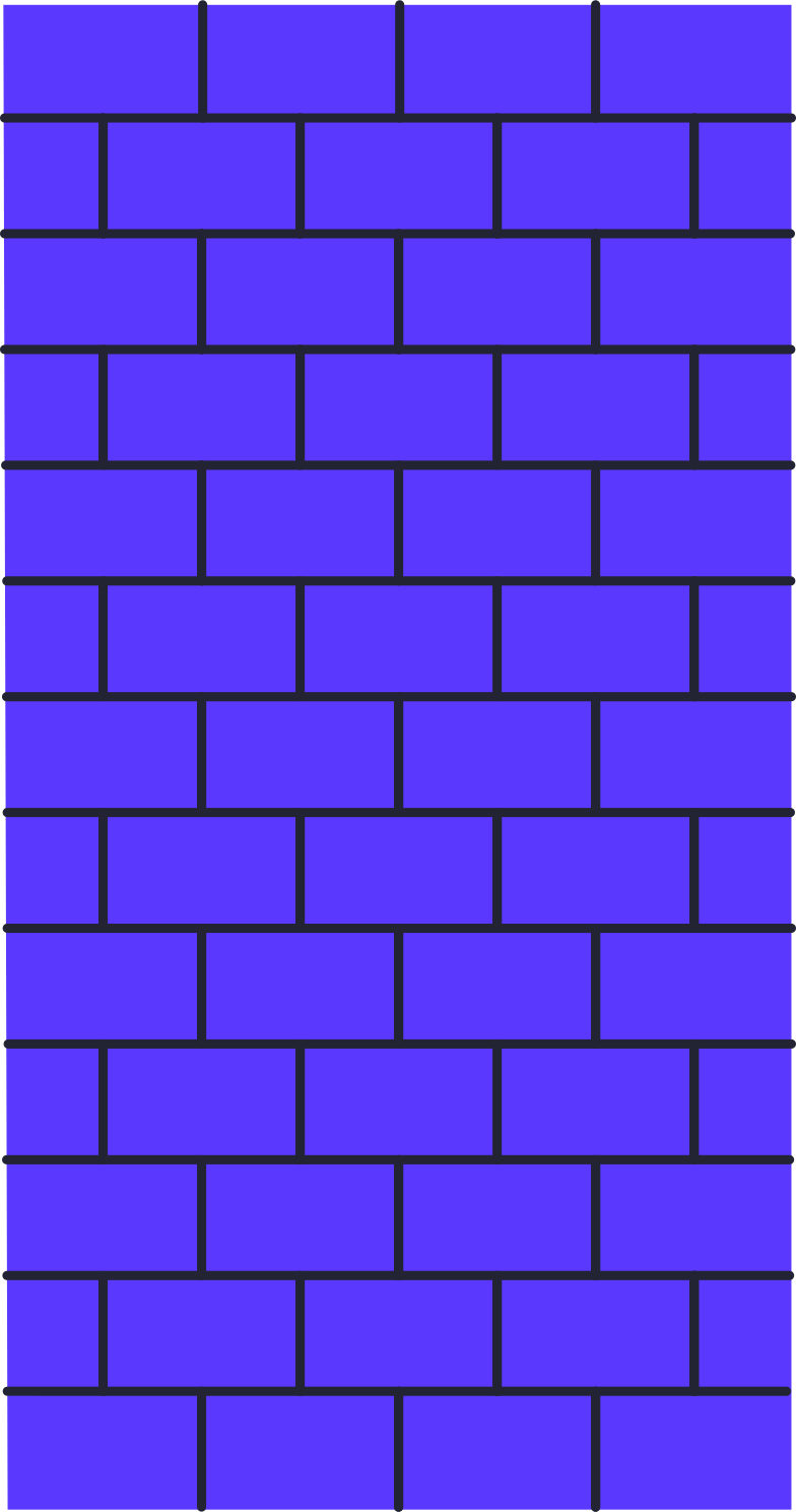 brick wall color Clipart illustration in PNG, SVG