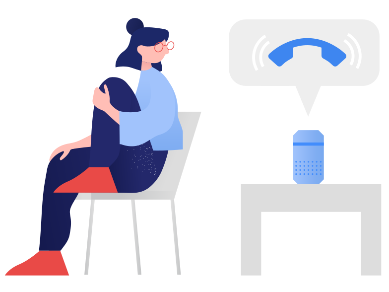 Smart speaker- incoming call Clipart illustration in PNG, SVG