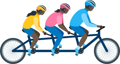 style family on tandem bike images in PNG and SVG | Icons8 Illustrations