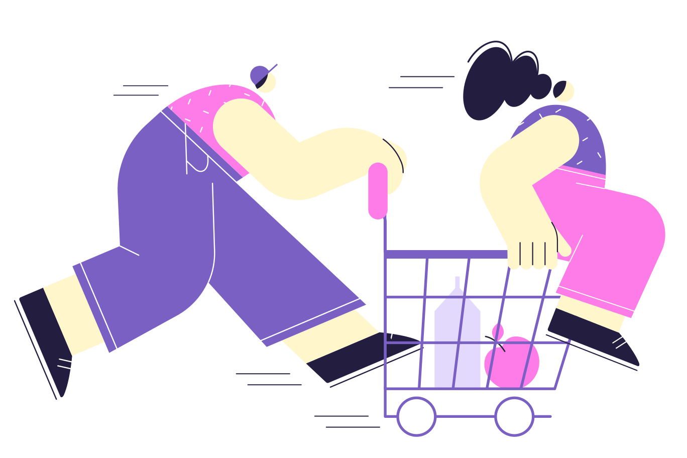 Fun shopping Clipart illustration in PNG, SVG
