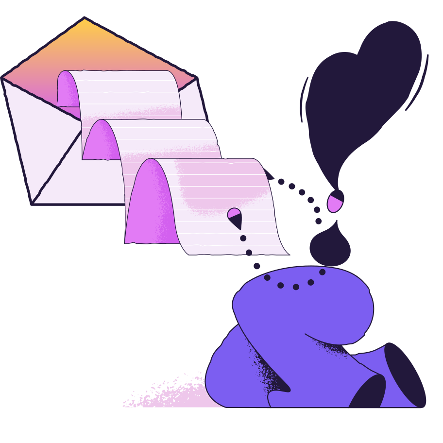 Reading message Clipart illustration in PNG, SVG