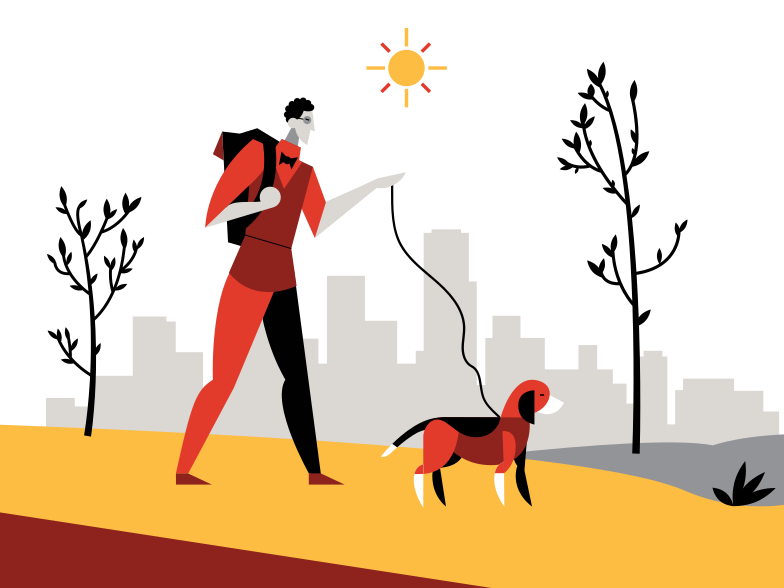 style Walking the dog Vector images in PNG and SVG | Icons8 Illustrations