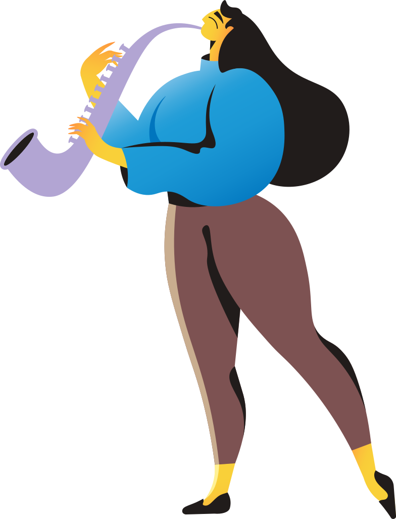 style woman with saxophone Vector images in PNG and SVG | Icons8 Illustrations