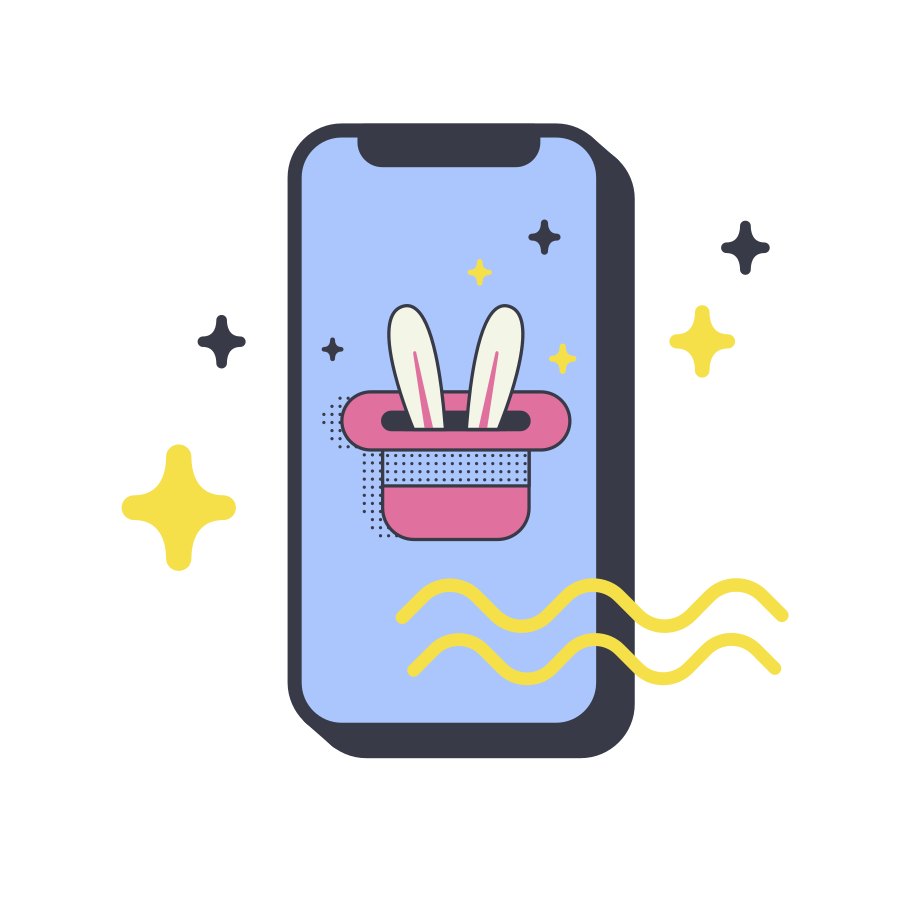 Magic in your phone Clipart illustration in PNG, SVG
