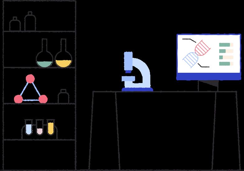Illustration clipart Laboratoire bg aux formats PNG, SVG