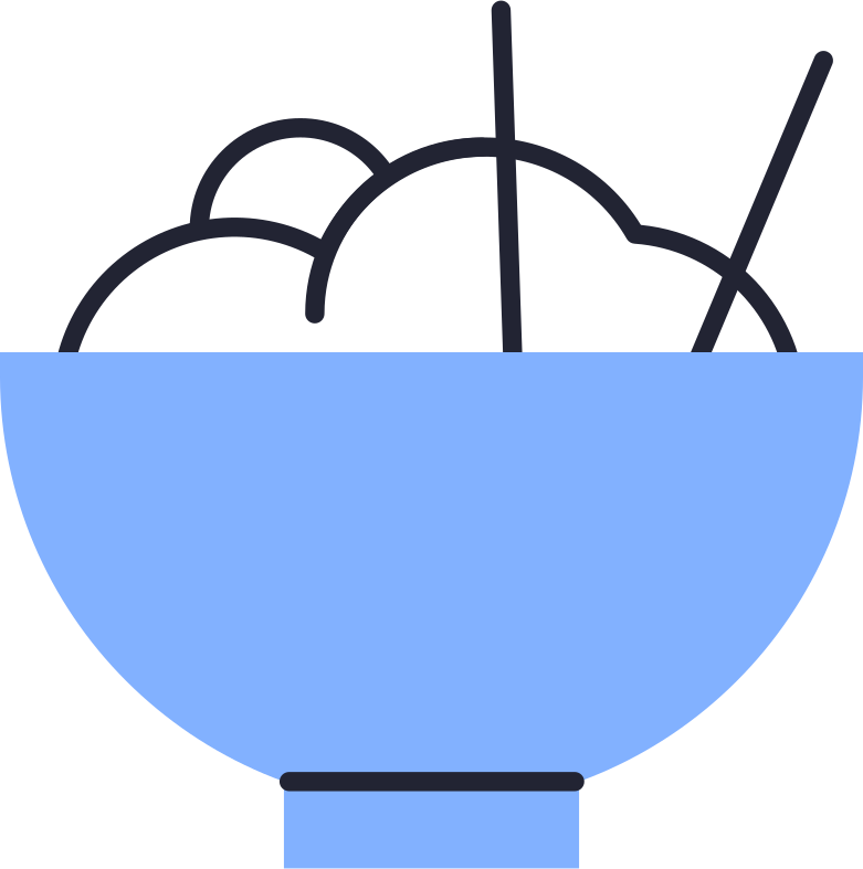 rice bowl Clipart illustration in PNG, SVG