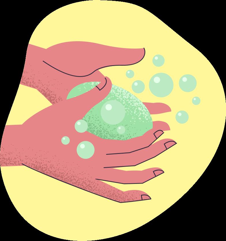 Washing hands Clipart illustration in PNG, SVG