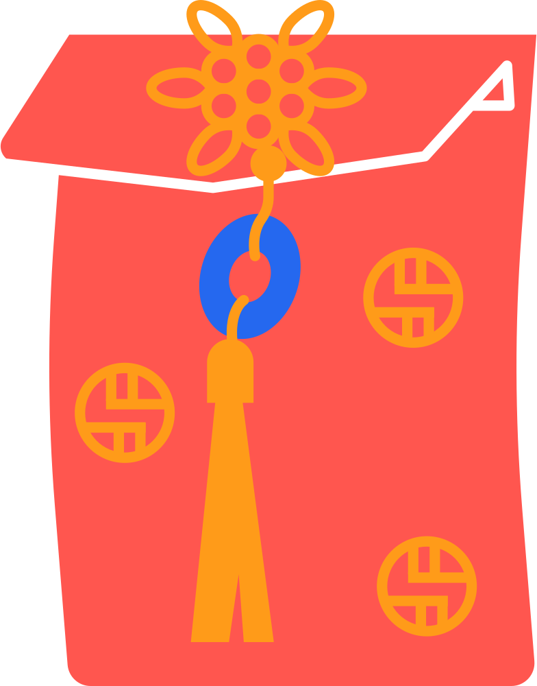 chinese envelope Clipart illustration in PNG, SVG