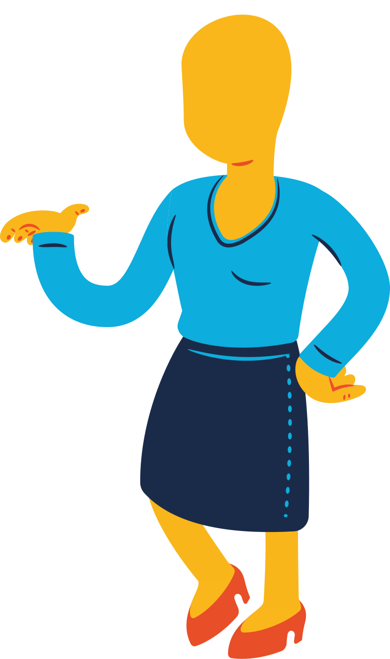 woman standing profile Clipart illustration in PNG, SVG