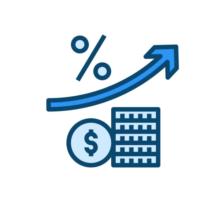 Financial market growth Clipart illustration in PNG, SVG